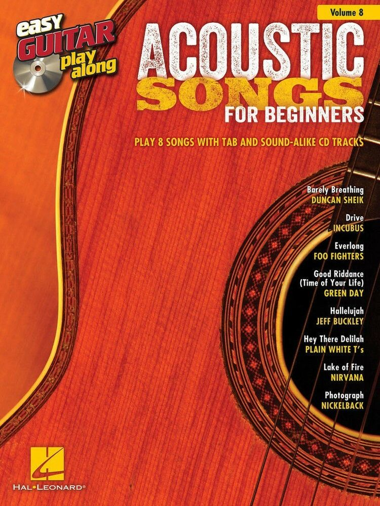Acoustic Songs For Beginners Easy Guitar Tab Play Along Sheet Music