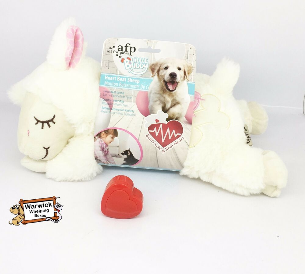 Comforter Puppy Dog Calming Toy Real Feel Heart Beat Plush Teddy Whelping Ebay