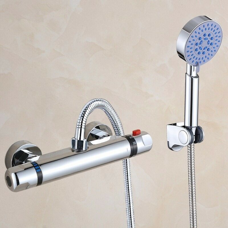 New Thermostatic Control Mixing Valve Faucet Bath Shower: Thermostatic Control Mixer Tap Valve Faucet Bathroom