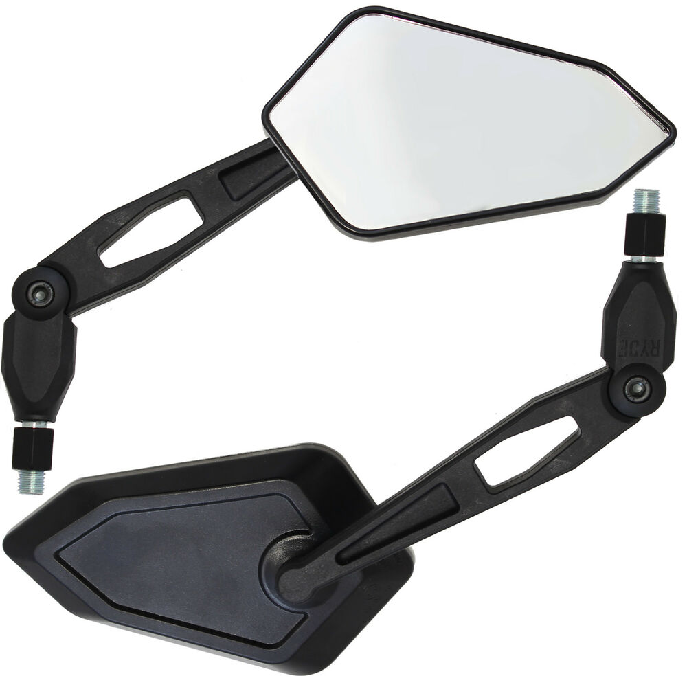 bike mirrors motorcycle motorbike angled 10mm universal ryde marked pair rear 8mm 2x