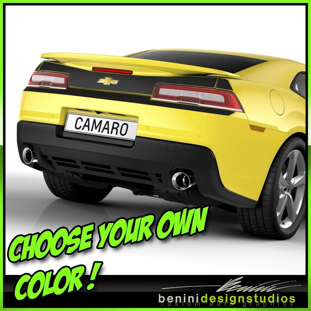 2014 2015 Camaro RS SS Rear Bumper Blackout Decals