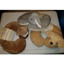 Infant Unisex Kelly Baby Brand Gray Bunny - Brown Bear - Dog Travel Neck Pillow