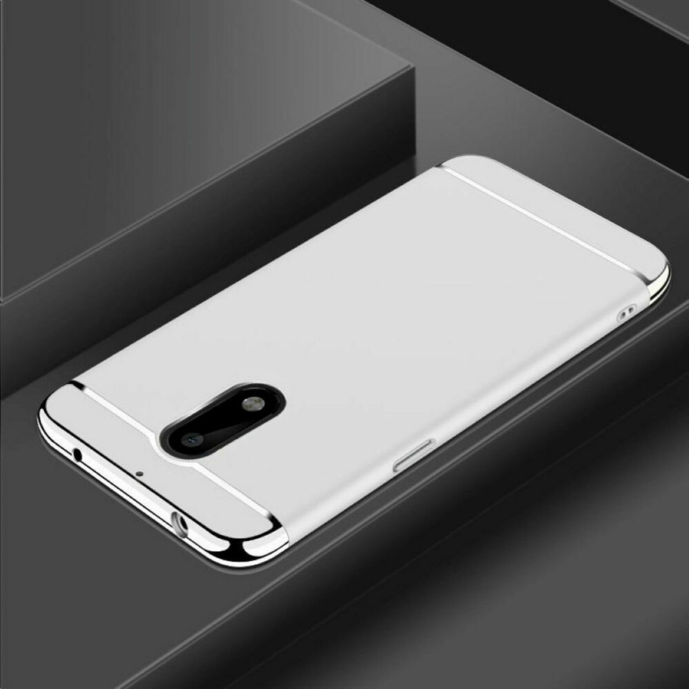 handy h lle schutz case f r nokia 6 bumper 3 in 1 cover chrom etui schale silber ebay. Black Bedroom Furniture Sets. Home Design Ideas