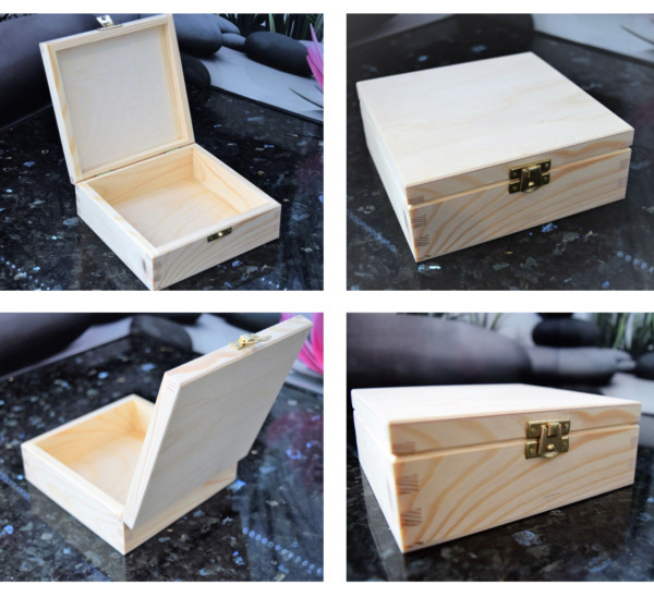 Plain Wooden box - Hinged lid Storage & Christmas Eve Boxes - 11 Sizes DISCOUNT