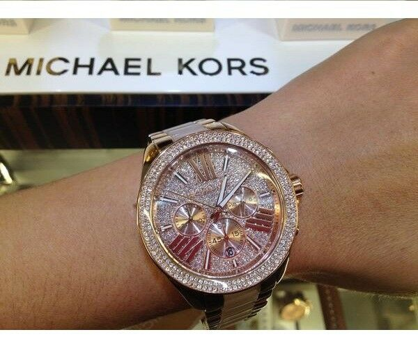 79b0221c8be7 Details about NEW GENUINE MICHAEL KORS MK6096 ROSE GOLD CRYSTALS WREN  LADIES WATCH UK STOCK