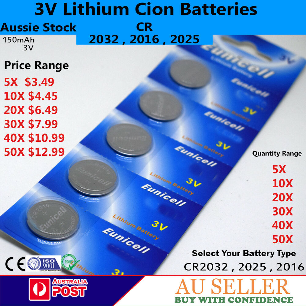 Brand New Lithium Button Cell Battery Cr2032 Cr2025 Cr2016 3v For Cr2332 Coin Batteries Electronic Watch Toys Etc Ebay