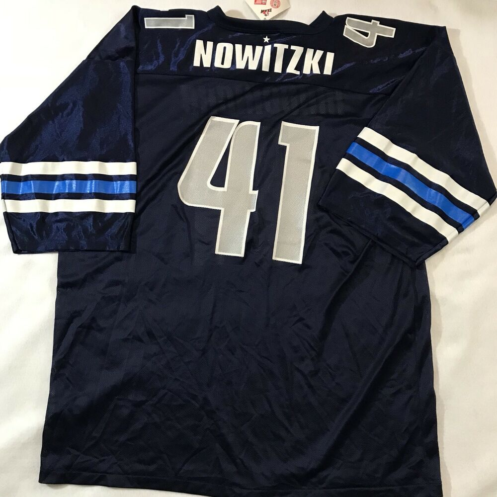 6f2f70c0403 Dirk Nowitzki  41 Dallas Mavericks 2XL NBA Football Jersey Rare Basketball  Team
