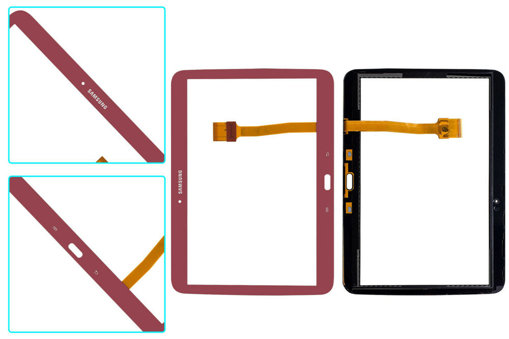 Red Touch Screen Digitizer Glass+Adhesive Samsung Galaxy Tab 3 10 1 P5210  P5200 655207863110 | eBay