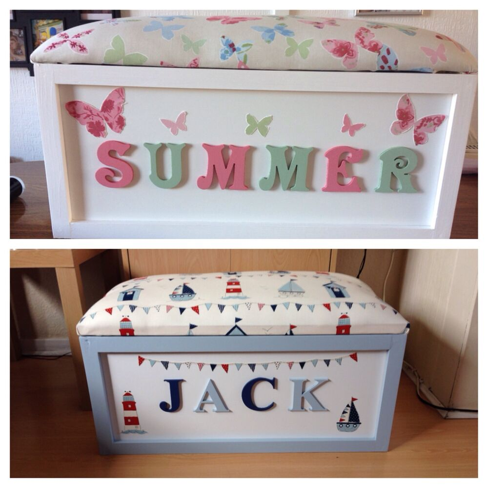 Toy Storage For Boys : Personalised handmade toy box storage ebay