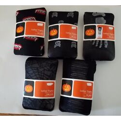Womens No Name Brand Halloween Black Tights Various Styles Size S/M M/L