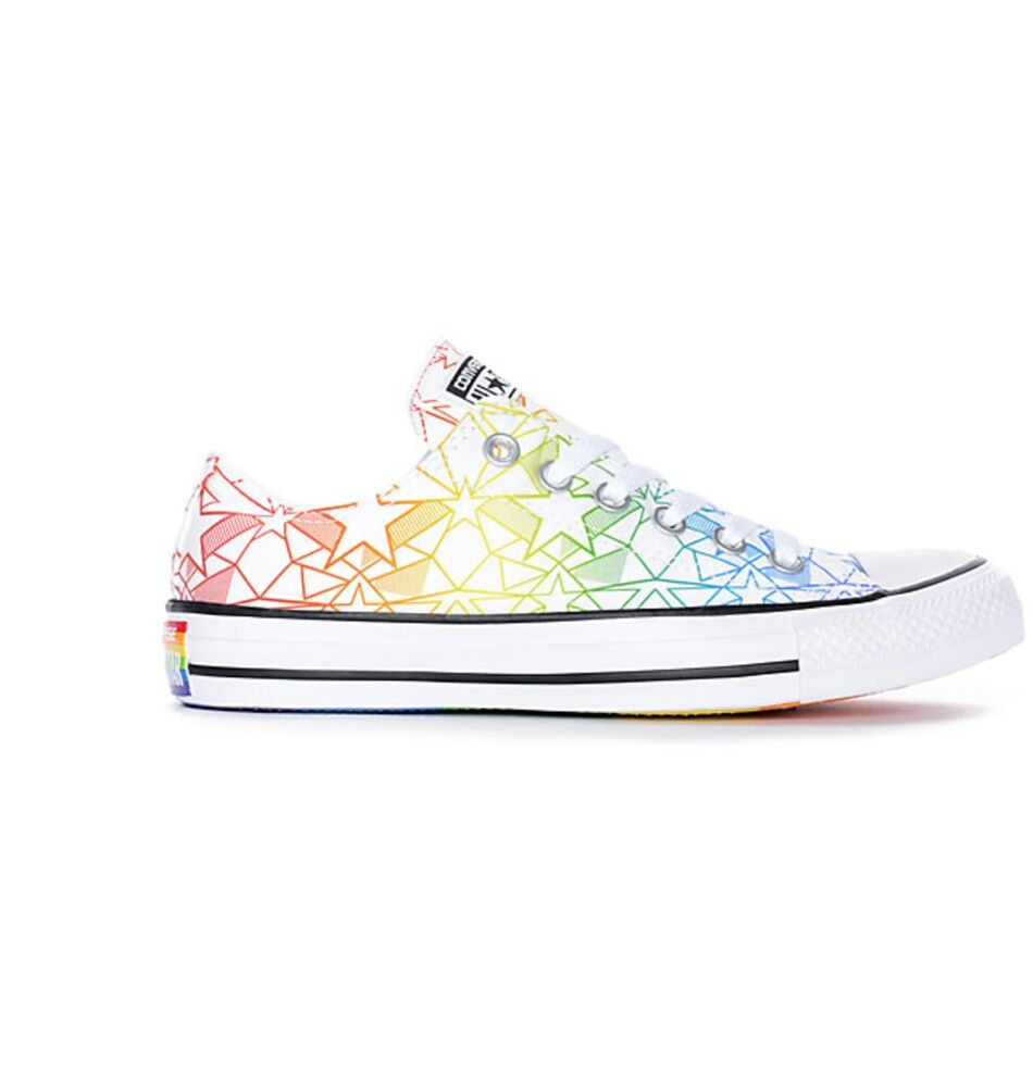 Details about Mens Womens Converse CTAS Ox Pride Pack Chuck White   Rainbow  LGBT Shoes 9e3aa23b8