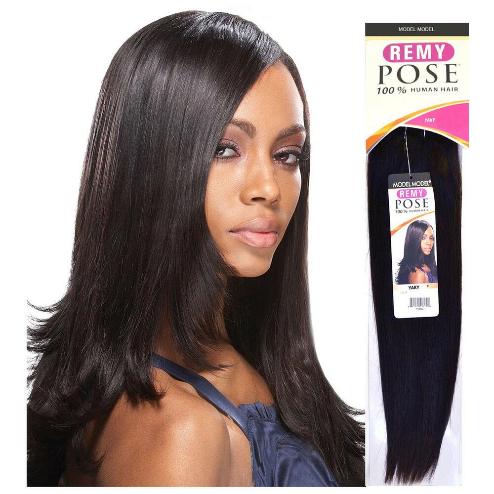 Model Model Remy Pose 100 Human Hair Yaky Weaving Straight Weave