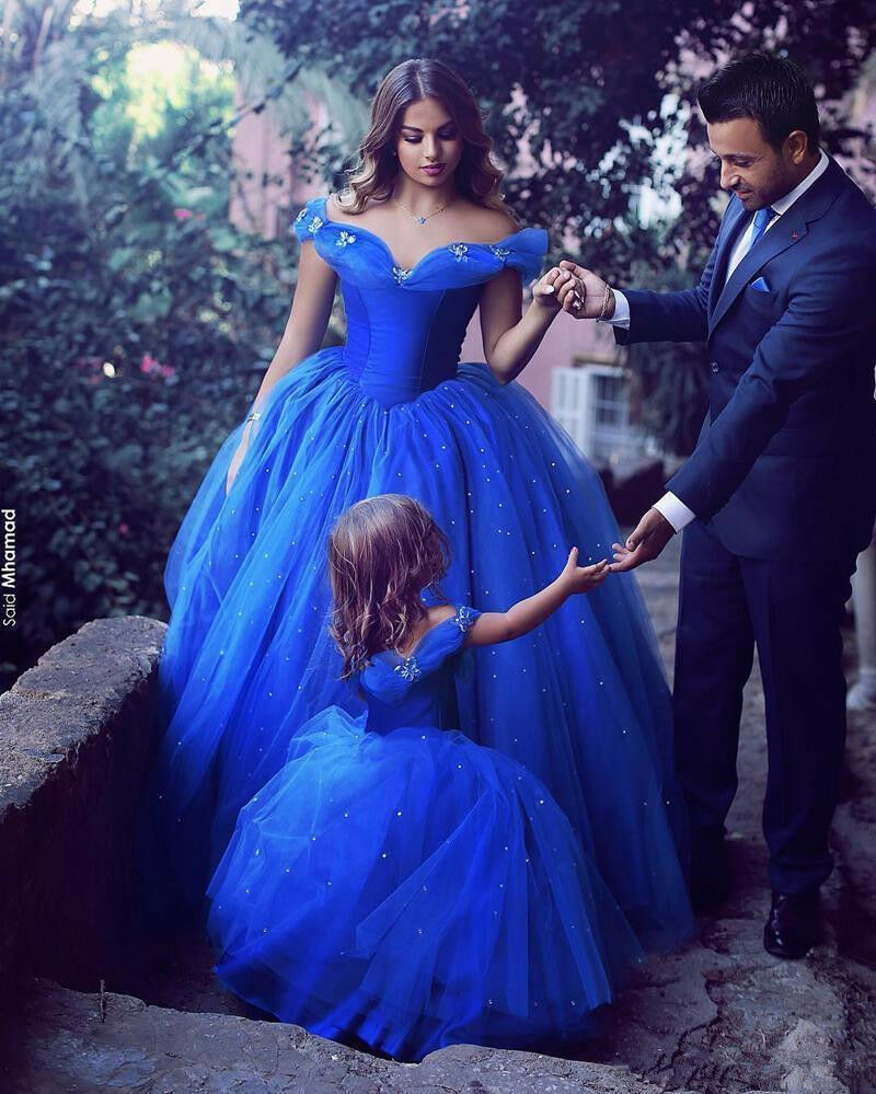 6f9bc557b51 Details about Royal Blue Cinderella Quinceanera Dress Formal Prom Gown  Sweet 16 Dresses Pearls