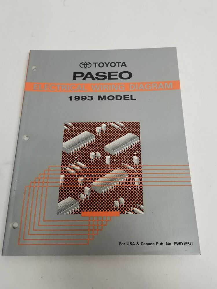 1993 Toyota Paseo Electrical Wiring Diagram Manual Usa