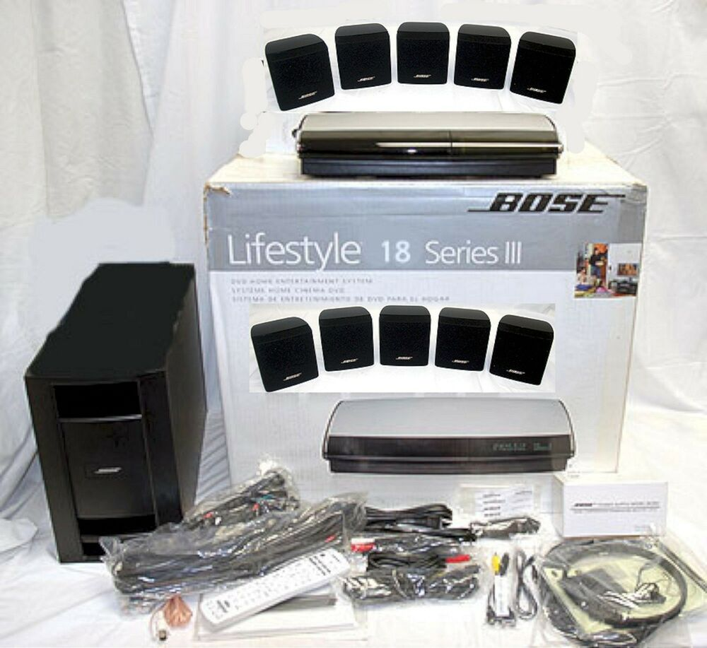 Lifestyl: Bose Lifestyle 18 Series III 3 BLACK DVD Home Theater