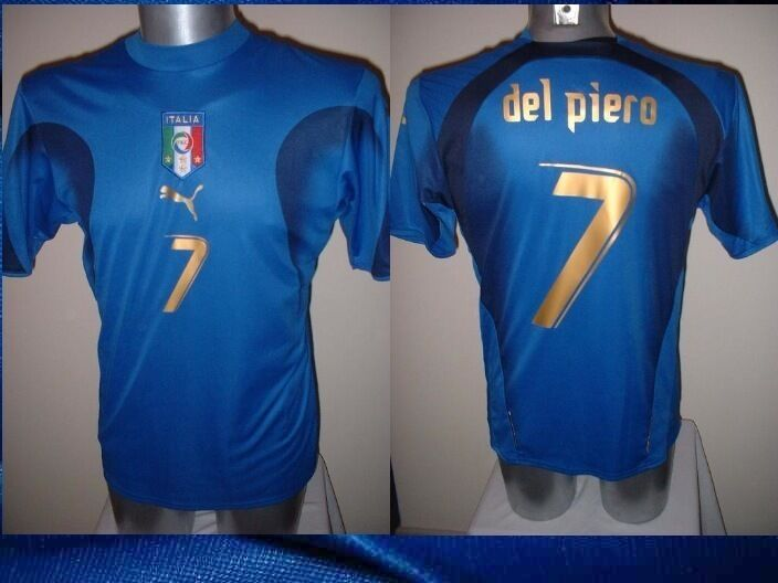b36e311f558 Details about Italy Italia DEL PIERO Shirt Puma Adult XL Soccer Football  Jersey Juventus Top