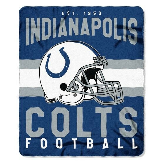 Indianapolis Colts Football Established 40 Fleece Throw Blanket Extraordinary Colts Throw Blanket