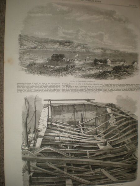 Chile bay of Valparaiso & remains of steam ship SS Sarah Sands 1859 ref AX