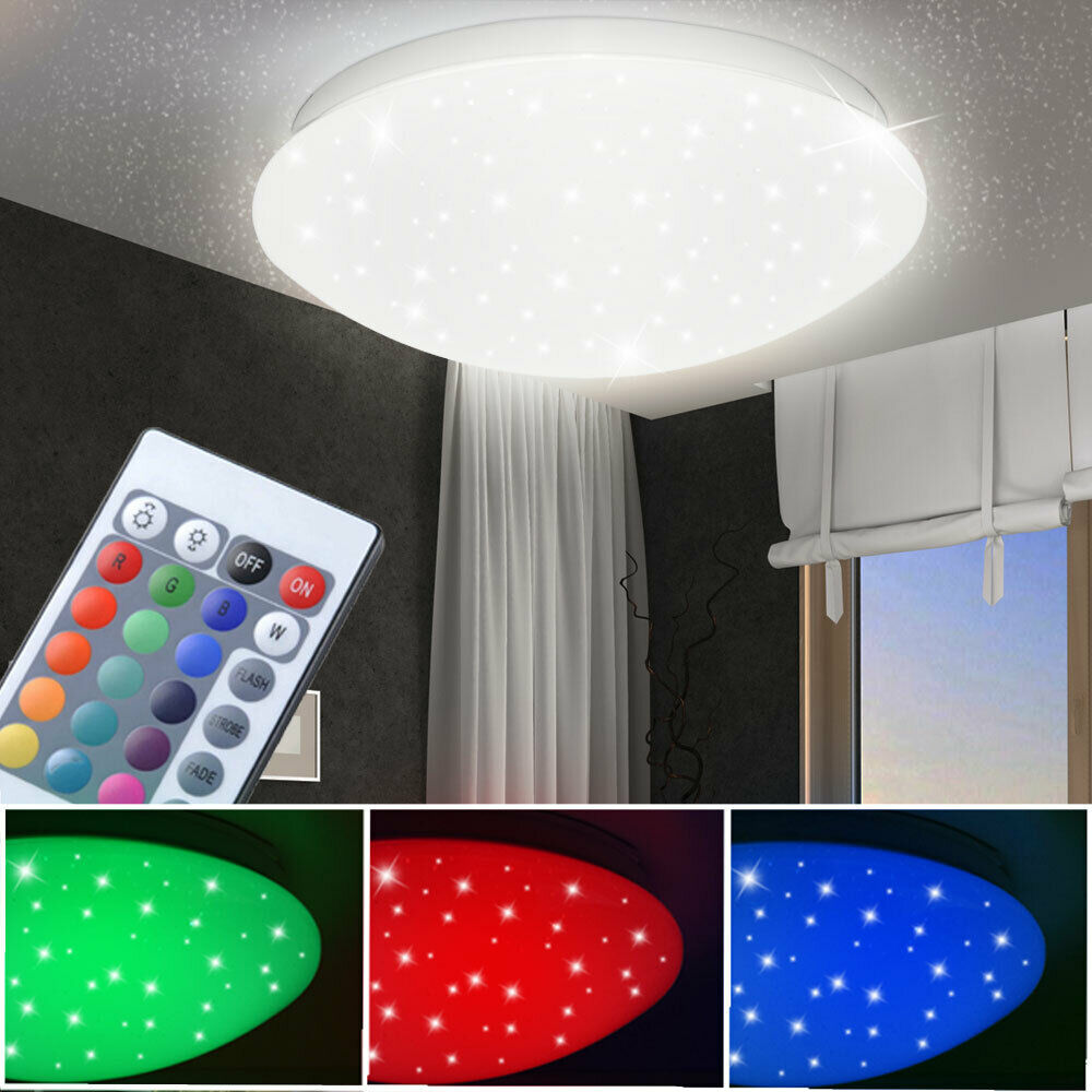 rgb led decken leuchte kinder zimmer sternen himmel effekt lampe fernbedienung ebay. Black Bedroom Furniture Sets. Home Design Ideas