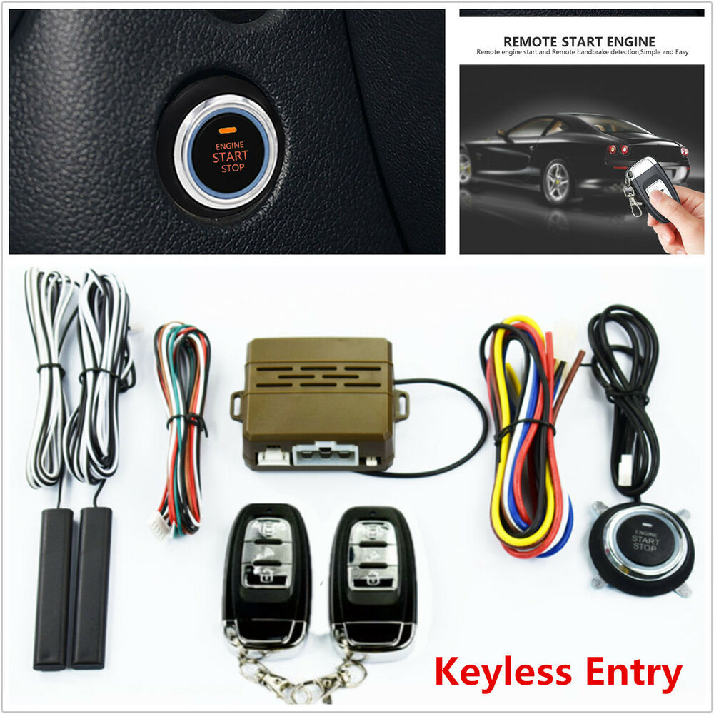Auto Car Alarm Security System Keyless Entry Push Button Remote Ignition Circuit Diagram For The 1949 54 Nash All Models Engine Start Kit 6430973310945 Ebay
