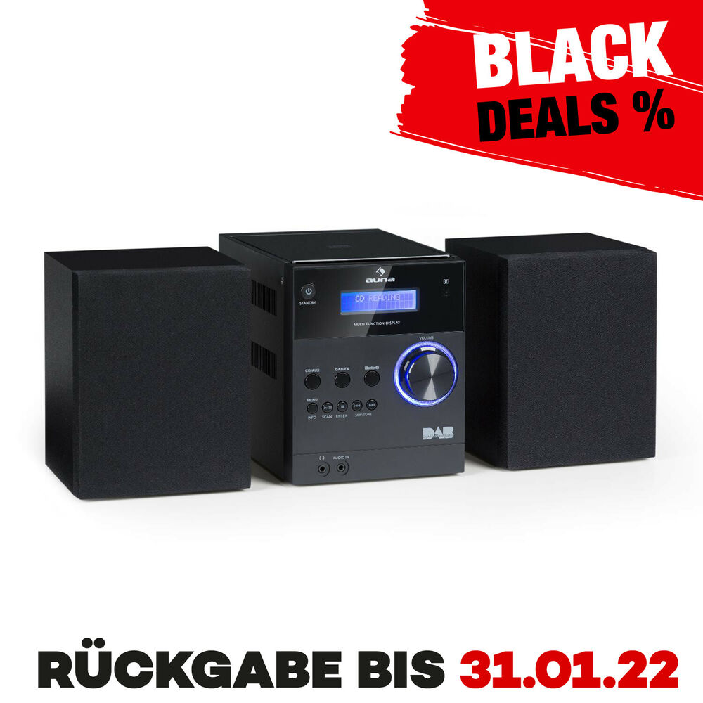 micro bluetooth stereoanlage mp3 usb dab digitalradio cd player ukw tuner boxen ebay. Black Bedroom Furniture Sets. Home Design Ideas