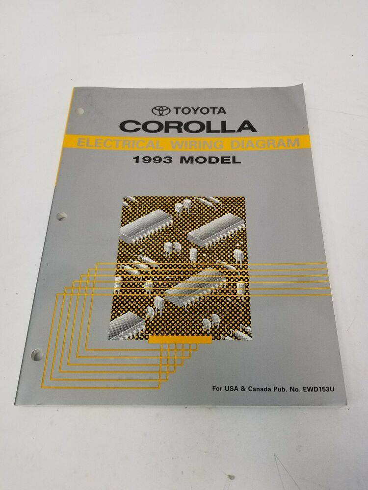 1993 Toyota Corolla Electrical Wiring Diagram Usa And