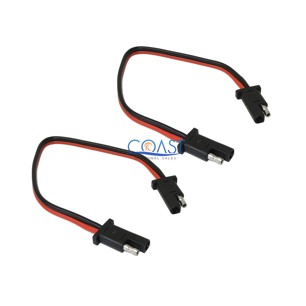 2X Car Quick Disconnect Connect 10 Gauge 2 Pin SAE Waterproof Wire ...
