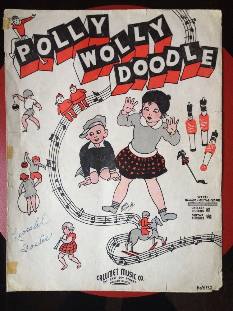 Polly Wolly Doodle Sheet Music Whawaiian Guitar Ukelele Guitar