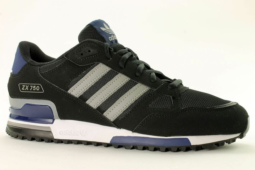 Orderly Material Unisex Adidas Zx 750 Sneakers Shoes Black Red Yellow White