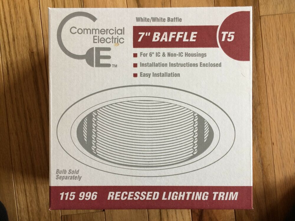 COMMERCIAL ELECTRIC RECESSED LIGHTING TRIM T5 7\