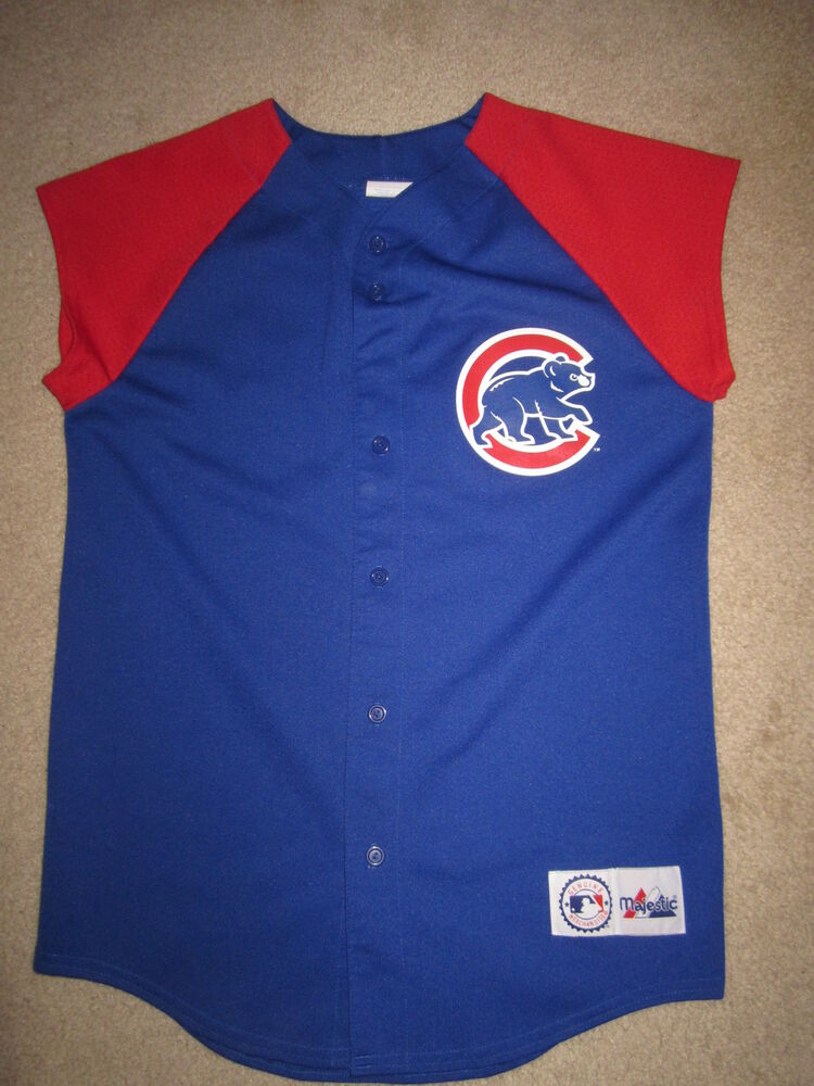 83a28188 Chicago Cubs Majestic Jersey Youth X-Large XL 18-20 | eBay