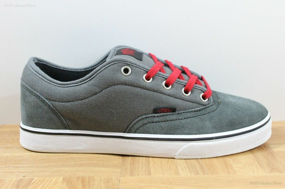 23a99fc3500932 Vans AV Era 1.5 Charcoal Grey Red Men s Classic Skate Shoes SIZE 7.5 ...