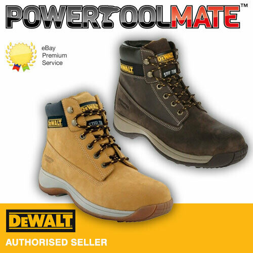 605508b67a6 Details about DeWalt Apprentice Safety Boots - Honey Brown - Size 4 TO 13