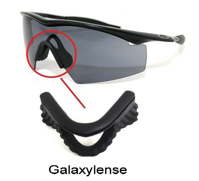 f98babe84b Details about Galaxy Nose Pads Rubber Kits For Oakley M Frame  Strike Hybrid Heater Sweep Black