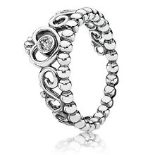 New! Authentic Pandora 925 Silver My Princess Stackable Ring 190880CZ Size 7/54