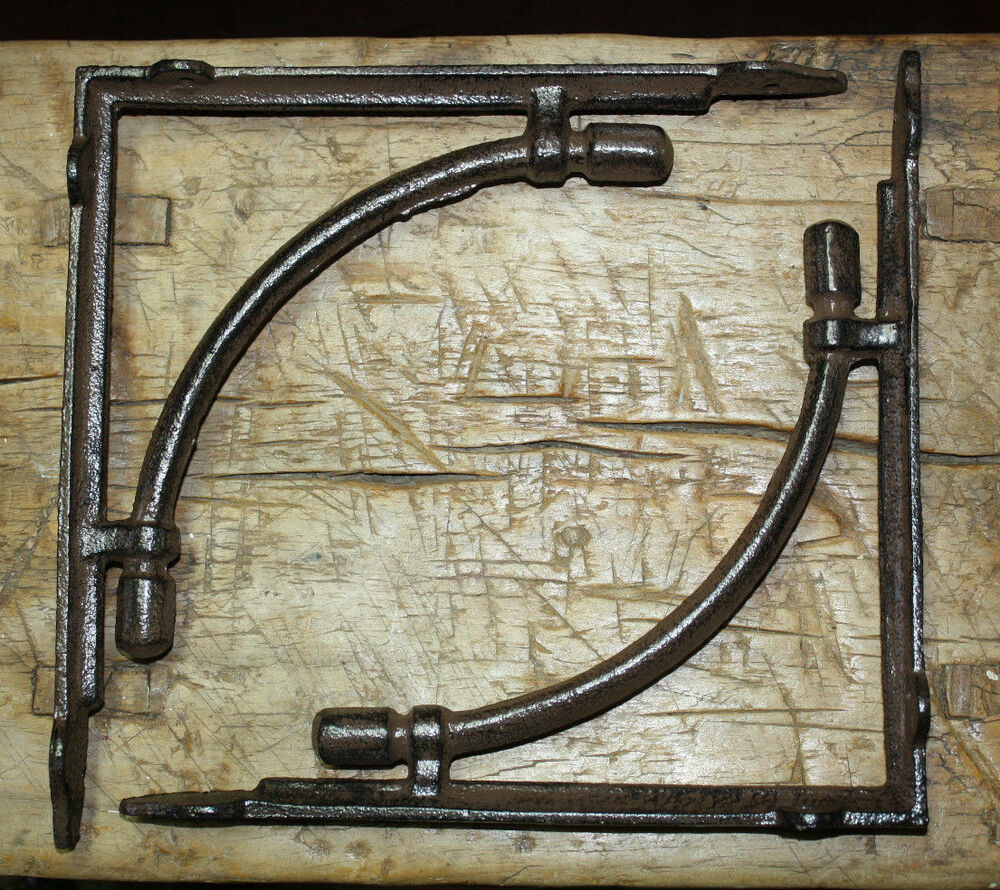 16 Large Hd Cast Iron Antique Style Cable Brackets Garden