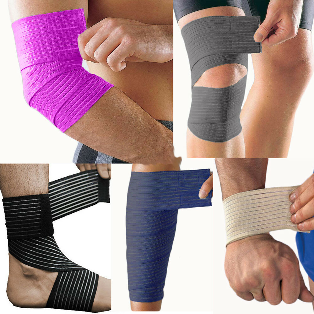 95fafbb18d Details about Adjustable Compression Wrap Elbow Wrist Ankle Knee Calf  Support Sports Brace