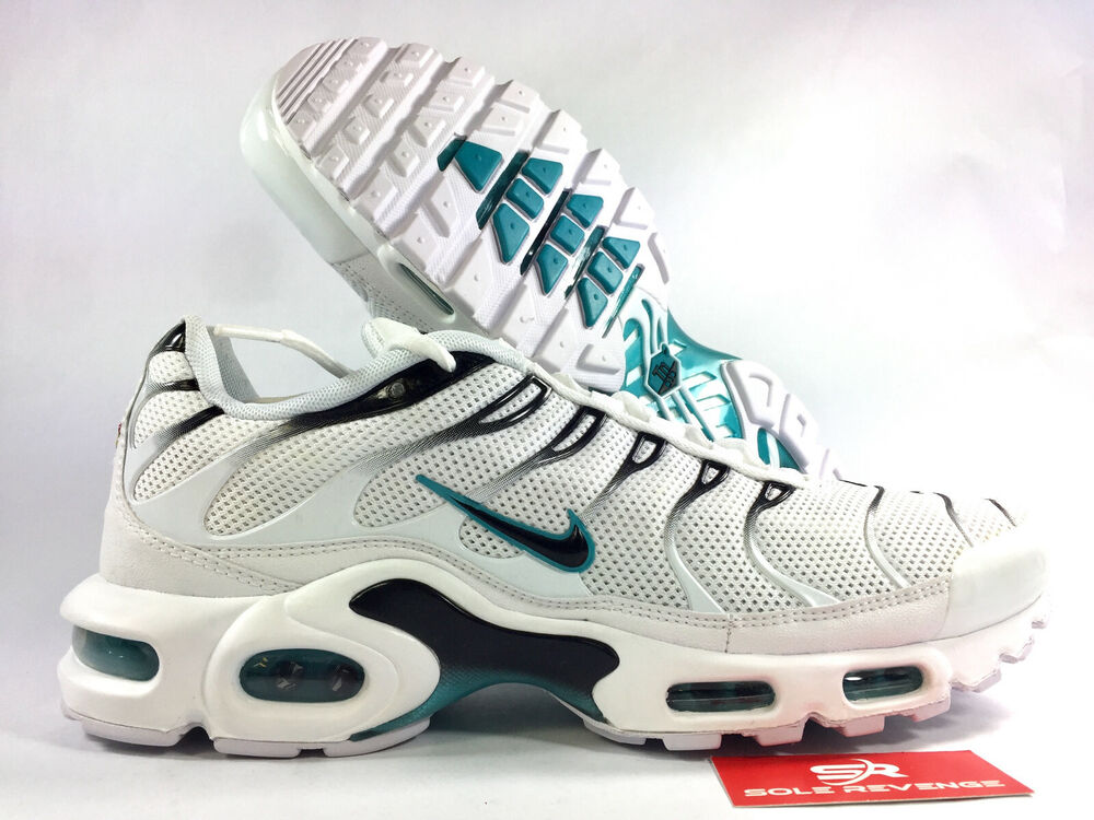 94800d5ca 10.5 NIKE AIR MAX PLUS TN White/Black/Dusty Cactus Shoes 852630-106 Tuned  Air | eBay