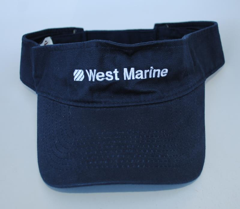 Details about West Marine One Size Curved Brim Sun Visor Baseball Cap Hat 2face5cd6ca