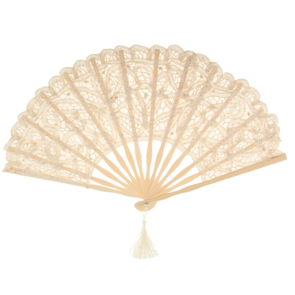 Elegant Spanish Style Hand Fan Lace Flower Design Fan Victorian ...