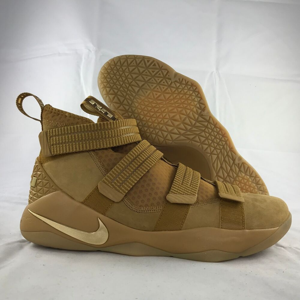 uk availability 304c2 8e76b Details about Nike Lebron Soldier XI 11 SFG Wheat Metallic Gold Brown  897646-700 Men s 12