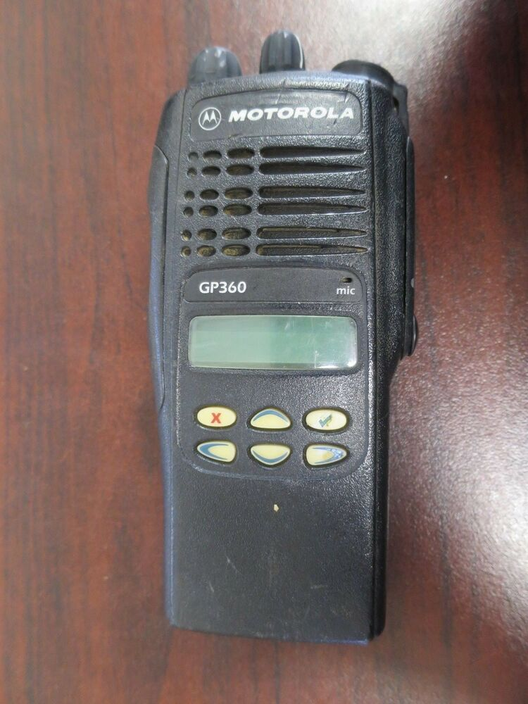 motorola gp360 handie talkie vhf portable 2 way radio mdh25rdf9an5ae type pw502f ebay. Black Bedroom Furniture Sets. Home Design Ideas
