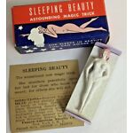 Vtg Risque Nude Sleeping Beauty Novelty Girlie Magnetic Toy with Box Magic 1949