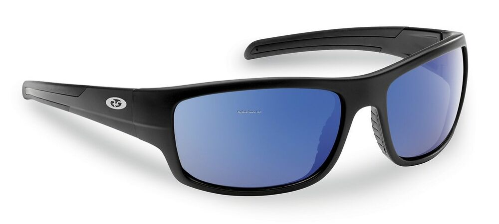 5ac532b361 Details about New Polarized Flying Fisherman Sunglasses Shoal Matte Black  Blue Mirror 7709BSB