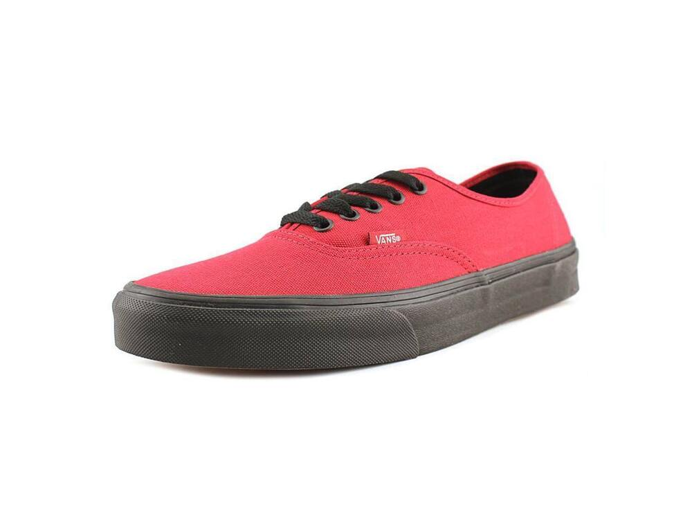 9b35b25fbf Details about  182 VANS Mens RED AUTHENTIC LOW TOP CANVAS SKATEBOARDING SNEAKERS  SHOES 11.5