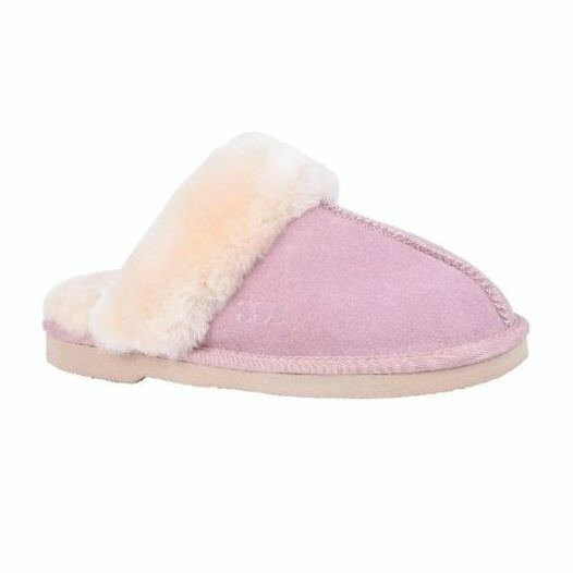 Details about UGG Slip On SUEDE Womens Leather Sheepskin Grosby Doe Light  Pink Shoes Slippers b543ebabe4