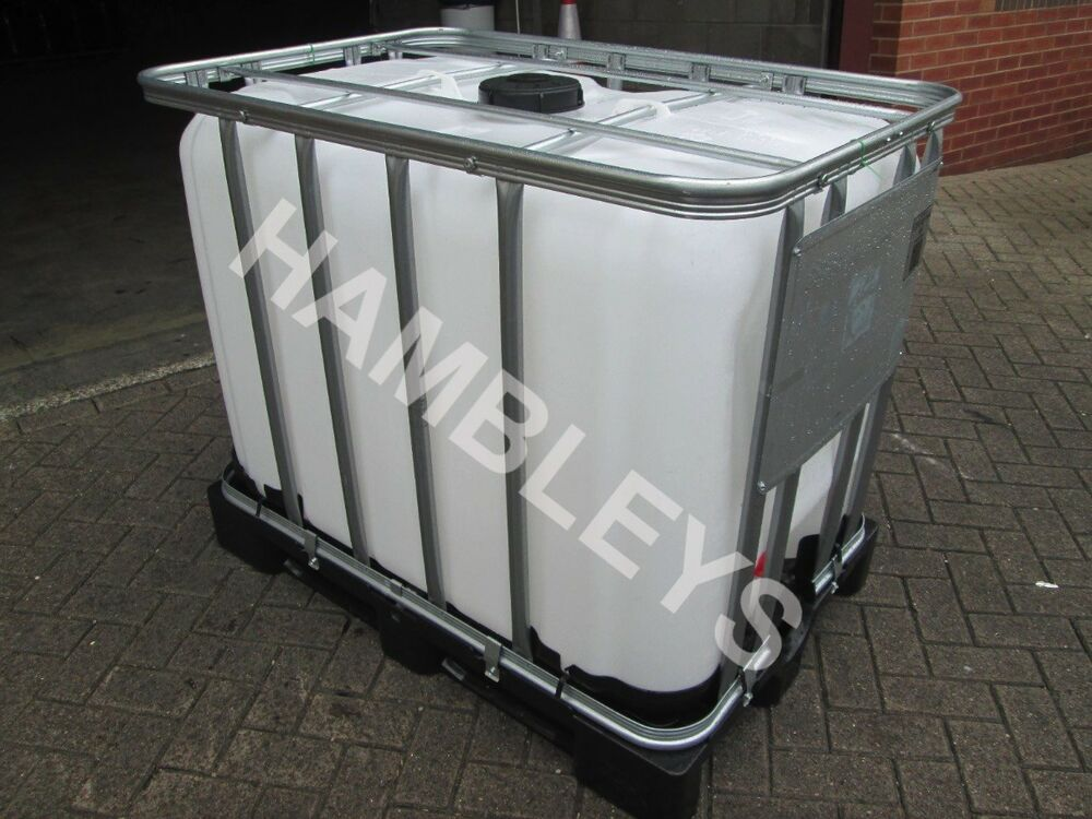 600 litre ibc tank water storage container plastic container ebay. Black Bedroom Furniture Sets. Home Design Ideas