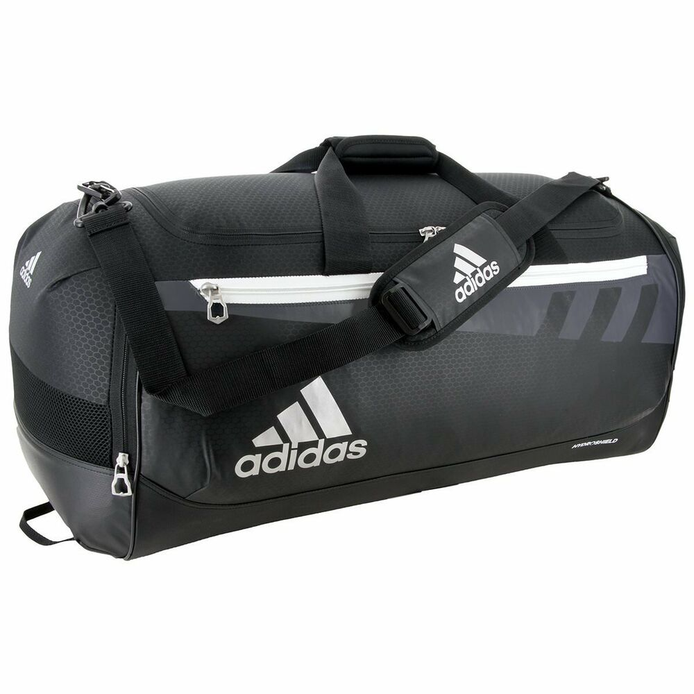 bf8a4182a Details about Adidas Team Issue Duffel Bag - Black, Small Medium Large Sizes