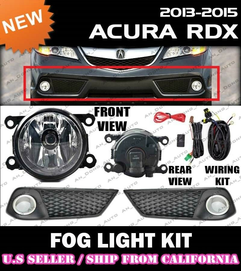 2013 2014 2015 ACURA RDX Fog Light Driving Lamp Kit W