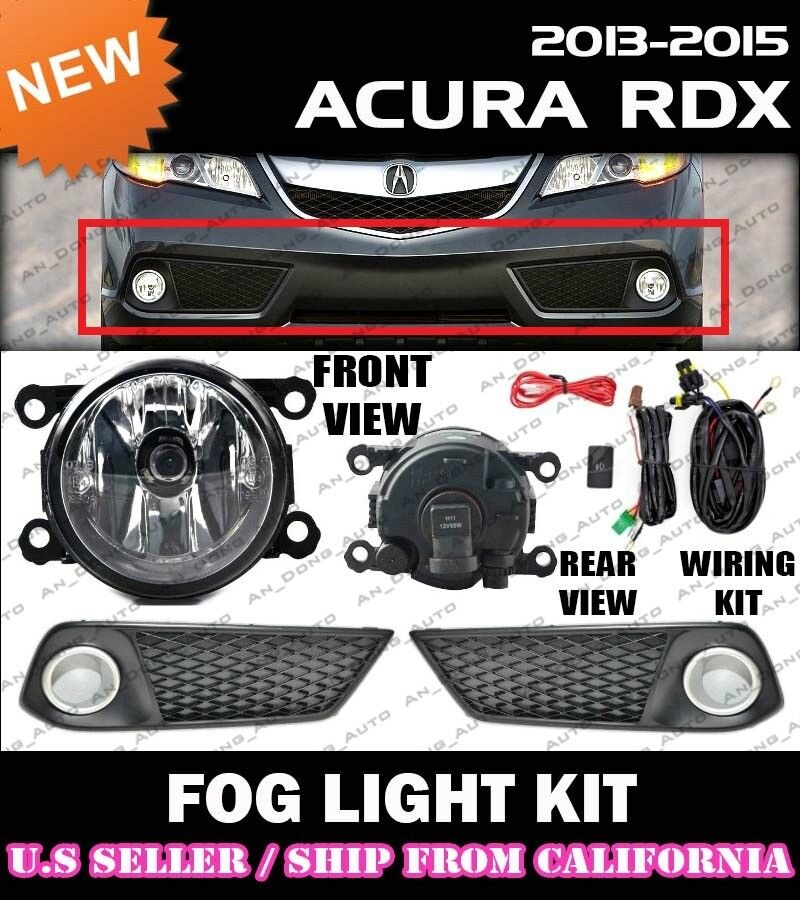 2013 2014 2015 Acura Rdx Fog Light Driving Lamp Kit W   Switch Wiring  Clear